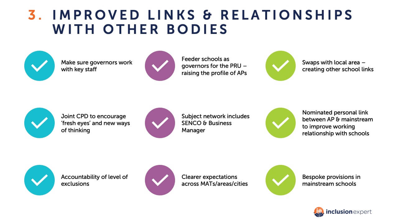 Improved links and relationships with other bodies